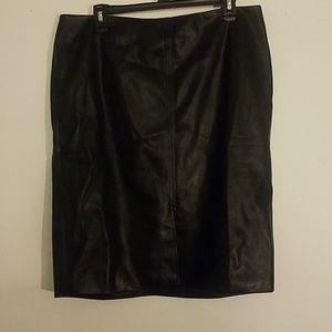 Worthington Leather Skirt with tag